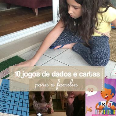 10 jogos de dados e cartas para a família