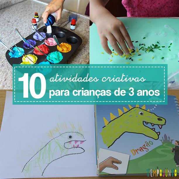 10 melhores atividades de artes para crianças de 3 anos