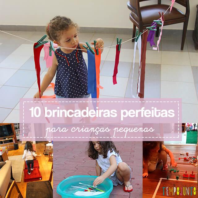 As 10 melhores brincadeiras para crianças de 3 anos