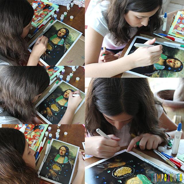 Vamos brincar com um quadro famoso - carol pintando