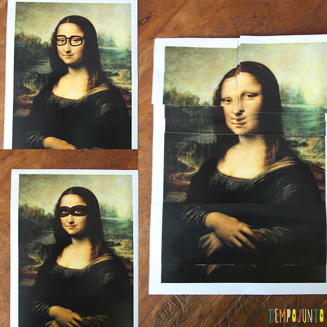 Vamos brincar com um quadro famoso - outros exemplos