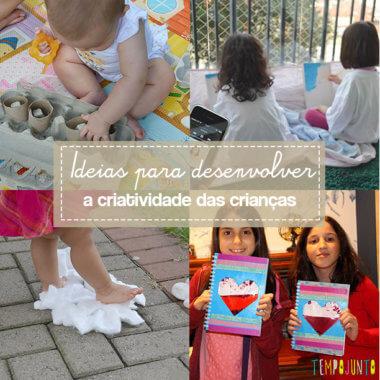 10 brincadeiras para estimular a criatividade