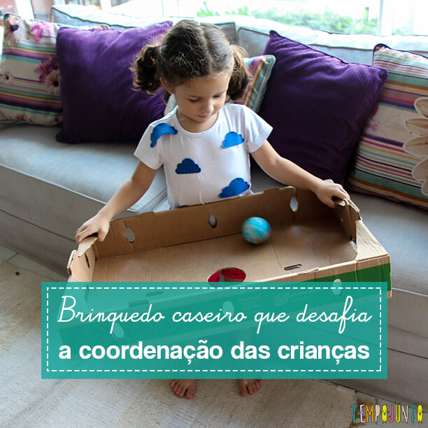 Brinquedo de coordenação motora feito em casa