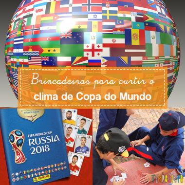 Transforme o clima de Copa do Mundo em brincadeira para os filhos