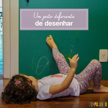Atividade sensorial diferente: desenho com os pés