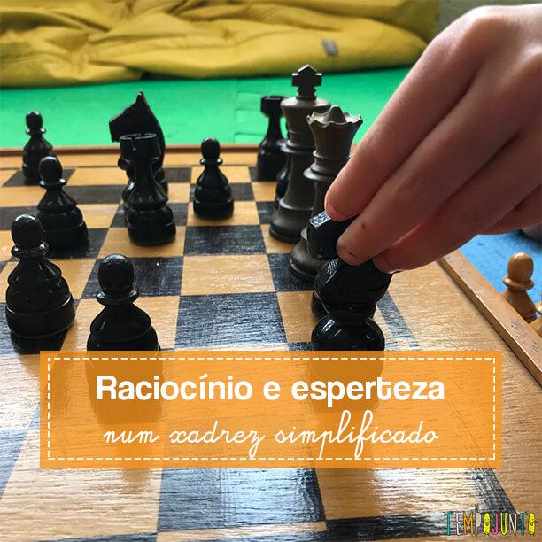 Jogo de xadrez mais simples que mantém o desafio para os pequenos