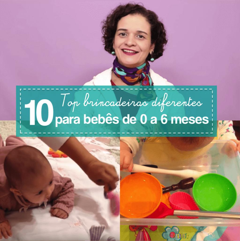 10 top brincadeiras para bebês de 0 a 6 meses
