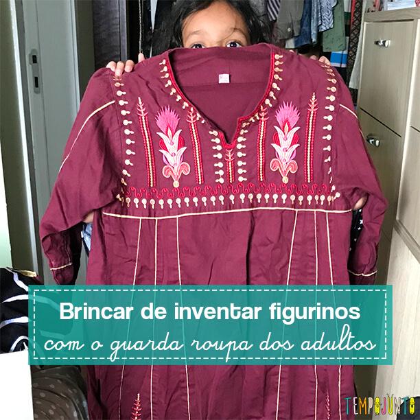 Invasão no guarda-roupa da mamãe é uma brincadeira de criatividade