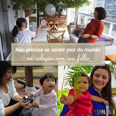 Menos culpa na relação com os filhos: esteja bem com você