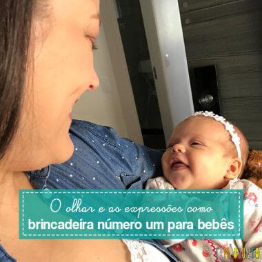 Brincadeira para tranquilizar e dar confiança ao recém-nascido