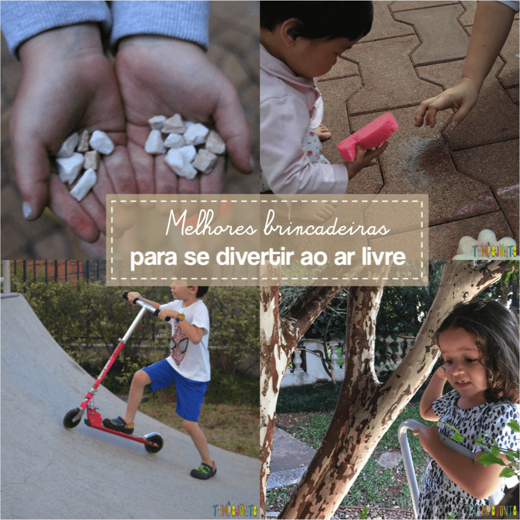 Melhores brincadeiras para fazer ao ar livre – retrospectiva Tempojunto