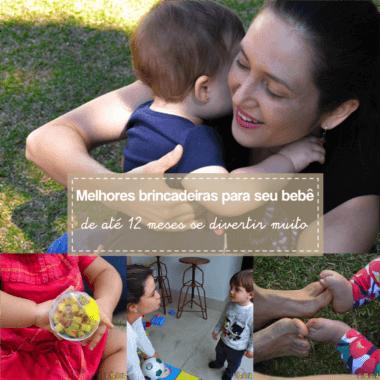 Melhores brincadeiras para seu bebê até 1 ano – especial Tempojunto
