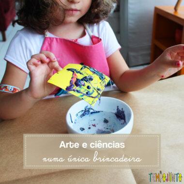 Arte e Ciências juntos no experimento do esmalte