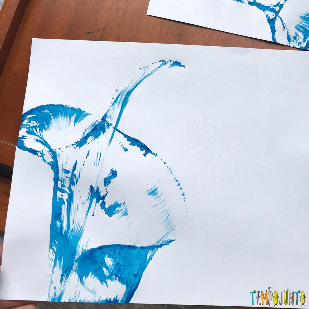 Pintura Com Barbante E Tinta Fácil Para Crianças Tempojunto