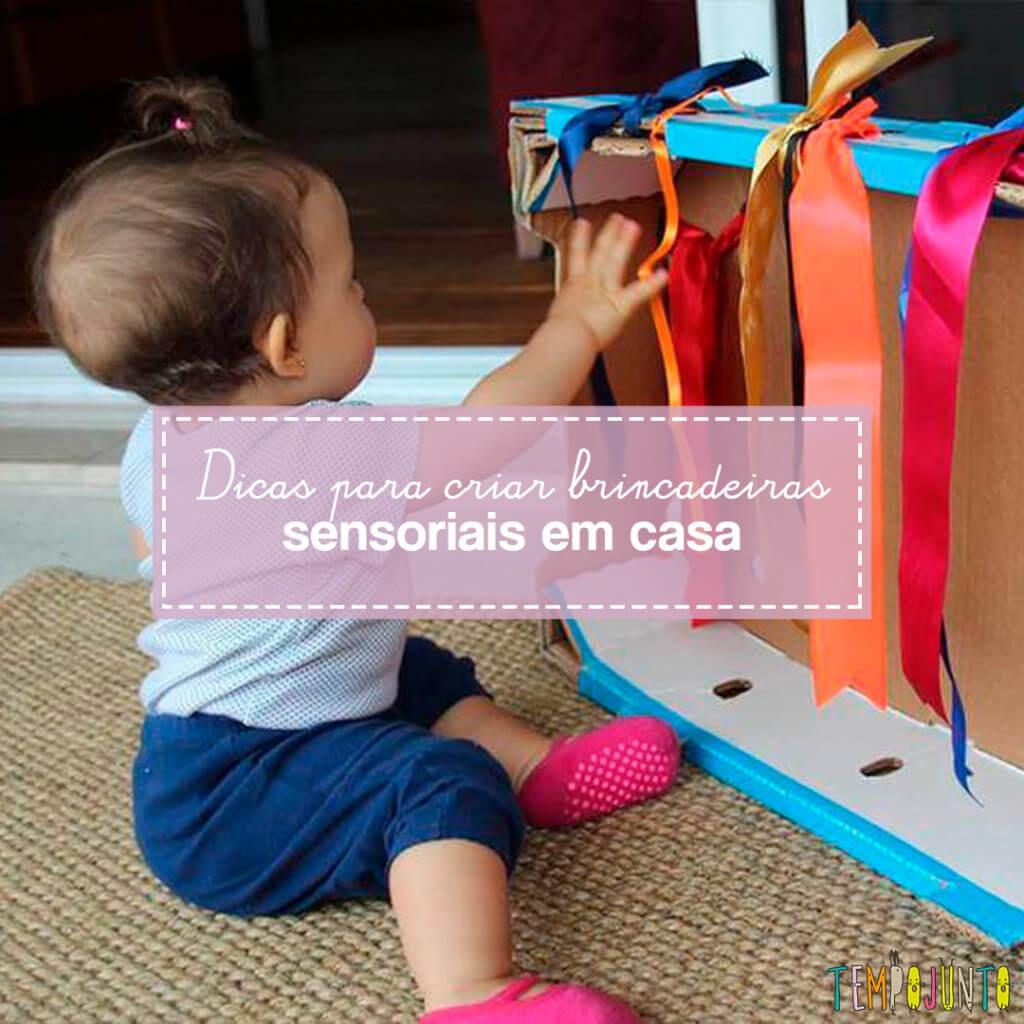 Como criar brincadeiras sensoriais para bebês e crianças pequenas