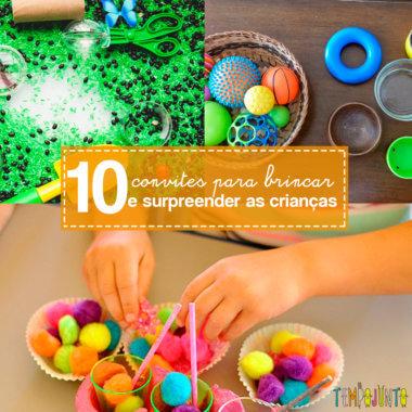 10 ideias criativas de cantinhos ou convites para brincar