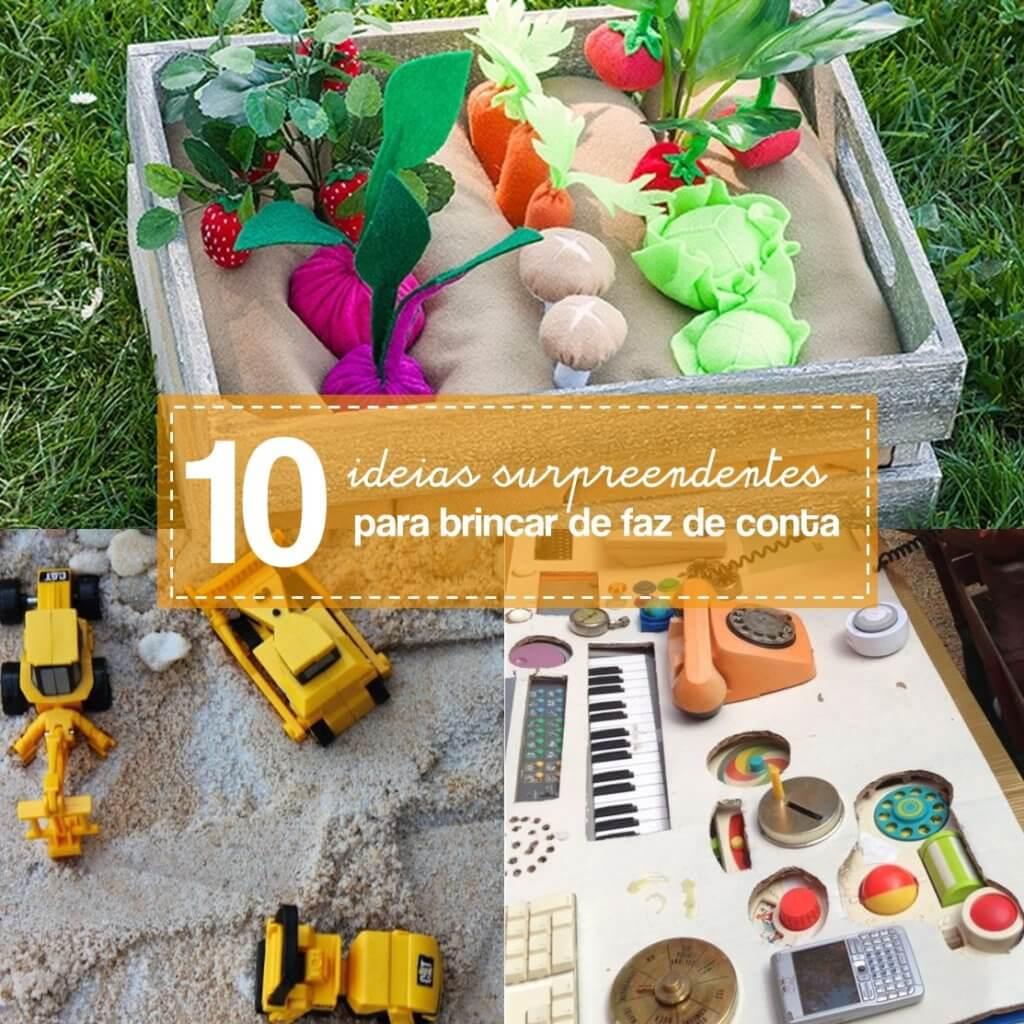 10 ideias criativas para brincar de faz de conta