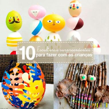 10 ideias criativas para fazer arte com esculturas