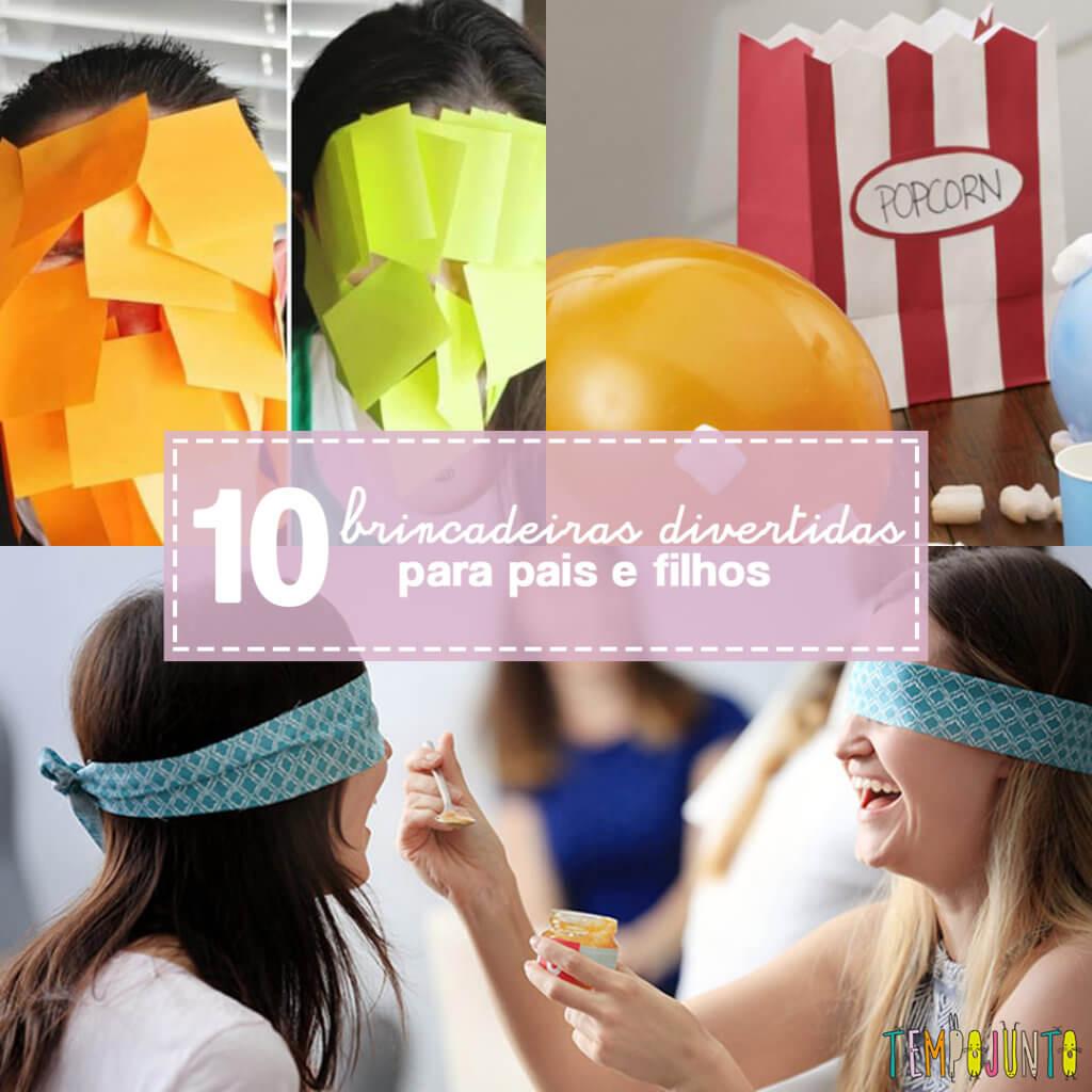 10 ideias para gincanas com pais e filhos