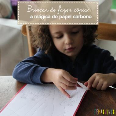 Desenho com papel carbono surpreende as crianças