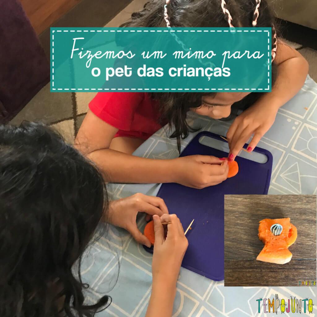 Faça você mesmo: brincadeira para o pet do seu filho