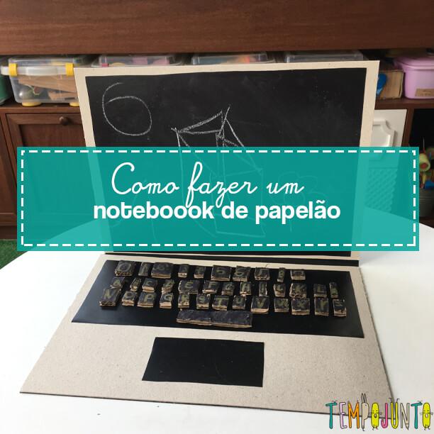 Brinquedo de papelão: como fazer um notebook