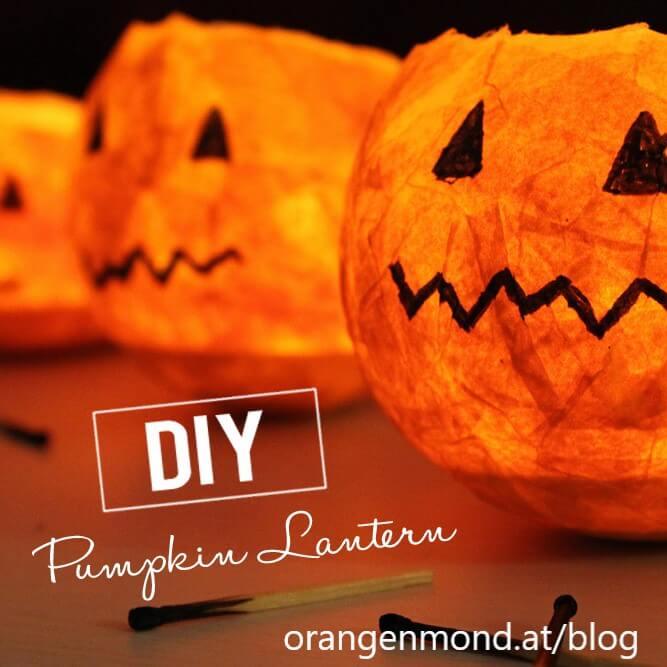 como fazer uma lanterna de abóbora para o halloween