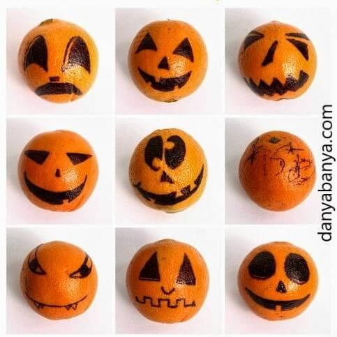 laranja para decoração de halloween