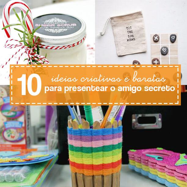 10 ideias de lembrancinhas simples para o amigo secreto