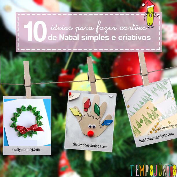 10 ideias de como fazer cartões de Natal personalizados