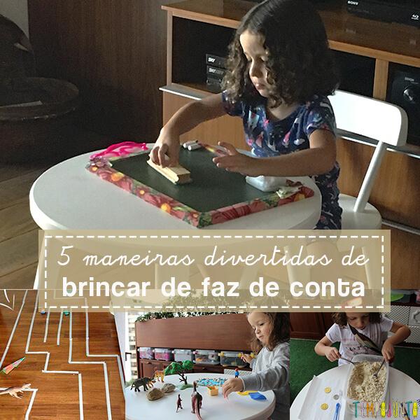 Brincar de faz de conta com brinquedos: 5 exemplos