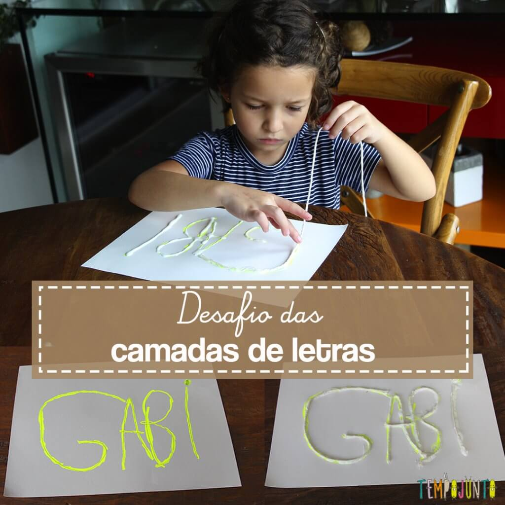 Atividades para ensinar o traçado das letras