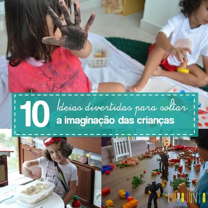 10 brincadeiras divertidas de imaginação
