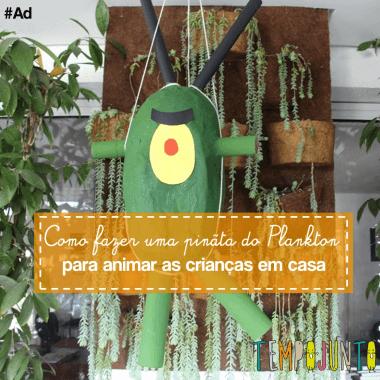 Como fazer uma pinãta do Plankton para animar as crianças em casa