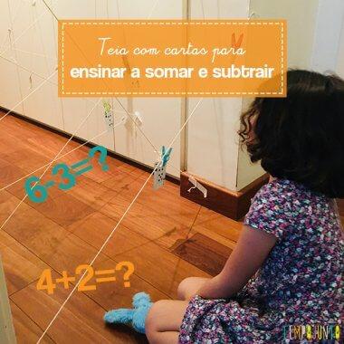 Brincadeira para ensinar matemática