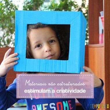 Como estimular a criatividade infantil com caixas de papelão
