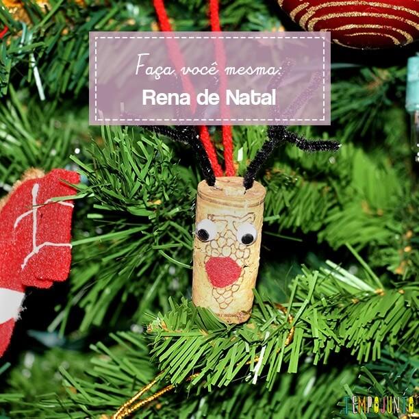 Atividades criativas para o Natal: rena de rolha