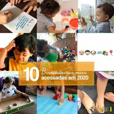 10 brincadeiras campeãs do Tempojunto em 2020