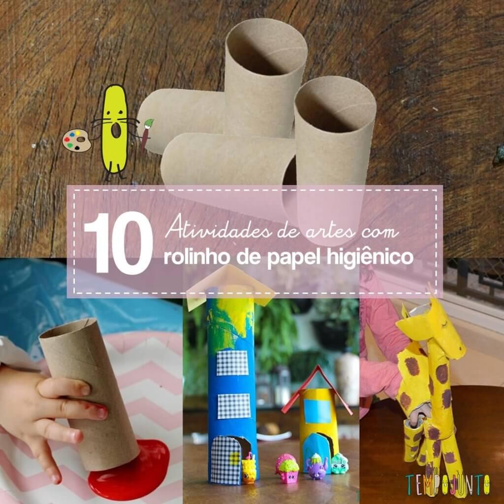 10 atividades de arte com rolo de papel higiênico