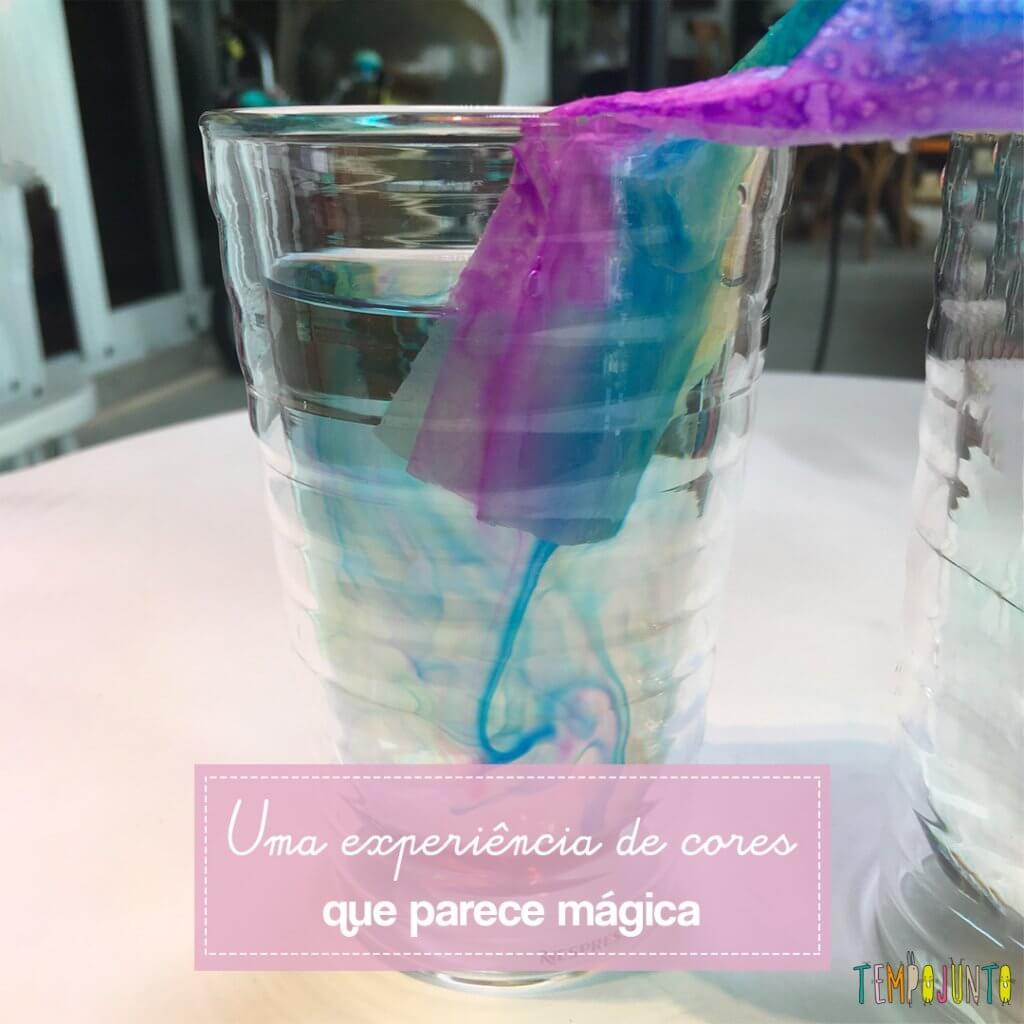 Brincadeira de experimento com água: crie um arco-íris!